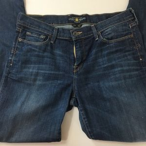 Awesome dark/ medium wash lucky brand jeans